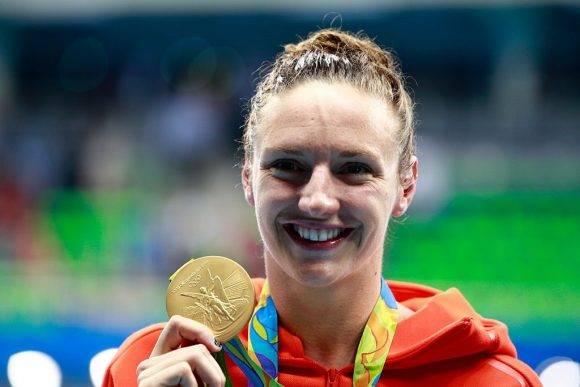 Katinka Hosszu en los Juegos Olímpicos de Rio de Janeiro. Foto: Archivo.
