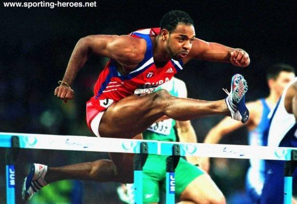 Anier García, campeón de los 110 con vallas en la justa. Foto tomada de sporting-heroes.net.