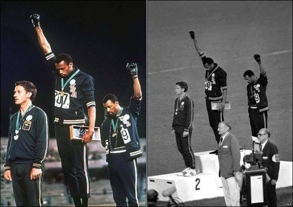 Tommie Smith y John Carlos, en los Juegos Olímpicos