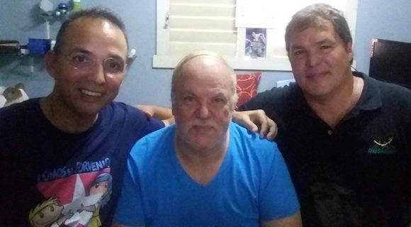 Bayolo, el autor de este trabajo, con Ramón y Tony.