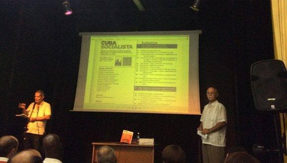 La revista Cuba Socialista, publicación teórica y política del Comité Central del PCC, fue presentada al público por primera vez. Foto: María del Carmen Ramón/ Cubadebate.