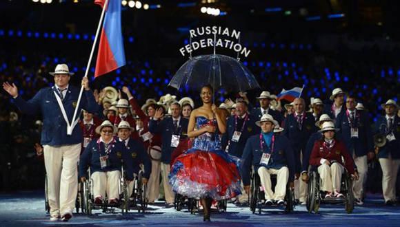 Delegación de Rusia en los Juegos Paralímpicos de Londres 2012. Foto: Getty Images.