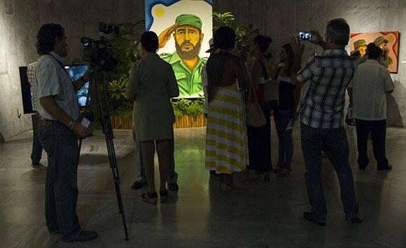 Exposición del artista Rogelio Fundora en el Memorial José Martí, dedicada a Fidel. Foto: Ladyrene Pérez/ Cubadebate.