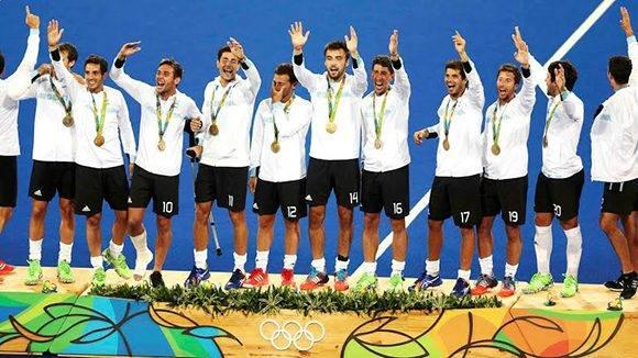 El hockey sobre césped masculino logró un valioso oro que agrandó la histórica actuación de Argentina en Rio-2016. Foto: Reuters.