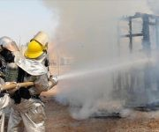 Incendio en hospital de Bagdad.   Foto: tn8