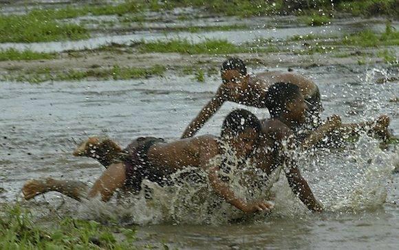 Espíritus olímpicos en Guane, Pinar del Río, este domingo 7 de agosto de 2016. Foto: Ismael Francisco/ Cubadebate