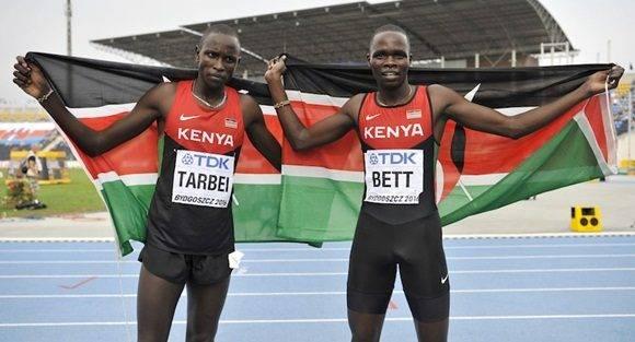 Atletas kenyanos.