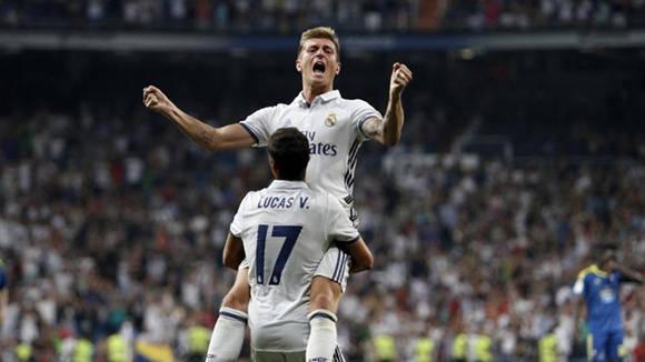 El alemán Toni Kroos definió el partido al minuo 81. Foto tomada de AS.