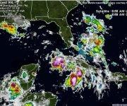 La novena depresión tropical se interna en el sudeste del golfo de México.