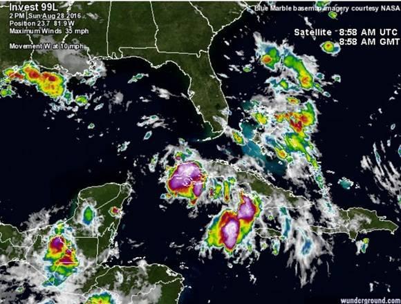 Continuarán las lluvias en el occidente y centro de Cuba