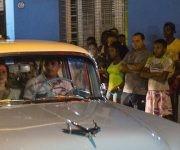 Madonna llega a un restaurante de Centro Habana. Foto: Ramon Espinosa/ AP