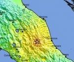 mapa terremoto italia