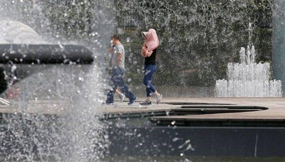 La temperatura del aire en Japón durante estos días suele superar los 30 grados.   Foto: Reuters.
