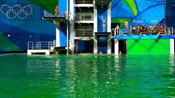No hay peligro con el agua verde.