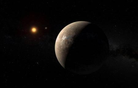 Un equipo de científicos descubrió un planeta orbitando fuera del Sistema Solar, de un tamaño un poco mayor que el de la Tierra, con una temperatura que permitiría la existencia de agua y que hasta podría albergar vida, en lo que sería uno de los mayores hitos de la astronomía. En la imagen, una ilustración del planeta difundida por el European Southern Observatory, el 24 de agosto de 2016. ESO/M. Kornmesser/Handout via Reuters