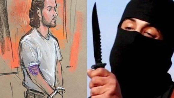 Nicholas Young, policía de Washington, fue detenido por ayudar al Estado Islámico. En la imagen, un dibujo de la audiencia en la que se presentó el agente acusado.