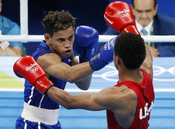 Ramírez, campeón en la cita estival de Londres 2012, venció por decisión dividida 2-1 (29-28, 29-28 y 28-29) en la gran final de su división al estadounidense Shakur Stevenson. Foto: Vincent Thian/ AP