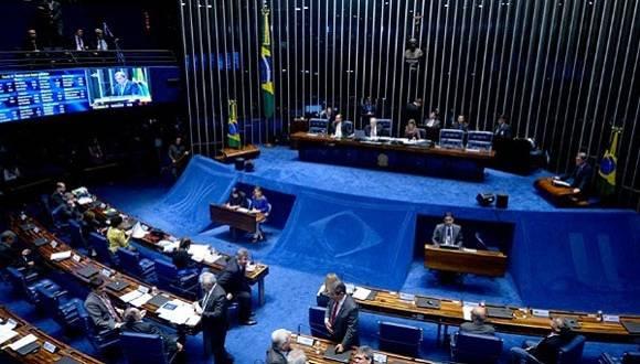 El Senado Federal decidirá hoy Senado Federal si la presidenta Dilma Rousseff se mantiene en el cargo o será reemplazada. Foto: Senado de Brasil.