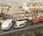 El desastre dejado tras el ataque en Turquía.