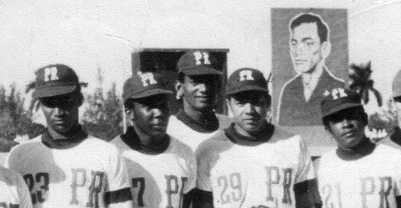 Julio Romero, Arturo Díaz, Leonildo Martínez, Lázaro Cabrera y Adalberto Herrera (1975)