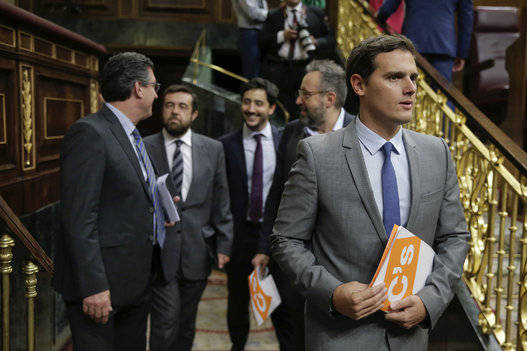 Hasta Ciudadanos, aliado del PP, se decepcionó de Rajoy. Foto: EFE.