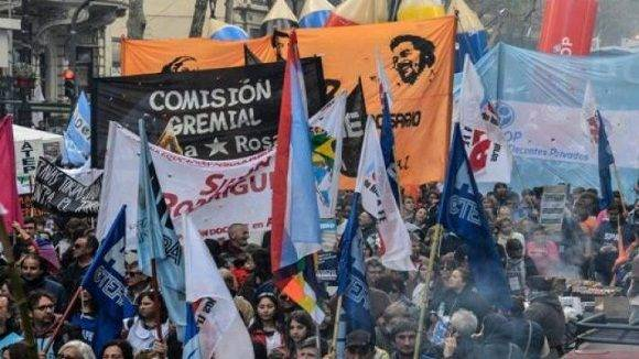 Manifestación en Argentina. Foto: Archivo.