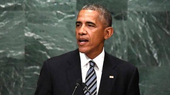 Barack Obama en la ONU. Foto: AFP.