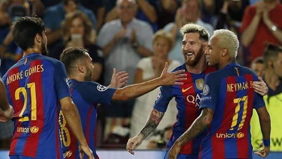 EL Barça demostró que la derrota ante el Alavés fue un mal momento asajero. Foto tomada de Marca.