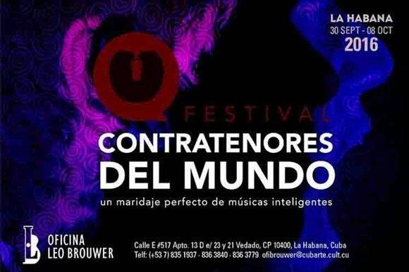 Por primera vez en Cuba, Festival Contratenores del Mundo.