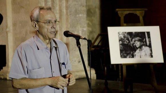 El Doctor Eusebio Leal, recordó a Julio desde el día en que lo conoció. Foto: Alexis Rodríguez