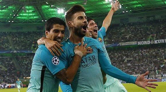 El Barça remontó un 0-1 en casa del Borussia Moenchengladbach y asumió el liderato del grupo C. AFP