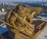 """""""Estatua del Guan Yu"""" por Han MeilinJingzhou, China."""