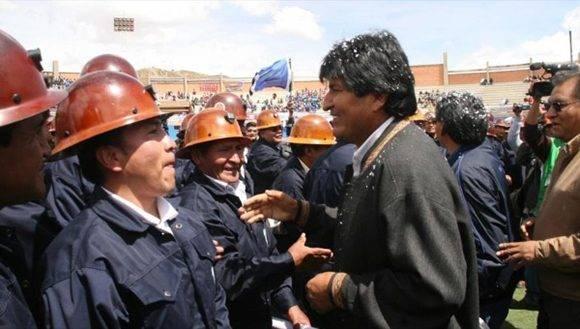 """El presidente Evo Morales repudió la actitud de la oposición en el país y los calificó de """"oportunistas sin ningún escrúpulos"""" por asesinar para alcanzar sus intereses. Foto: ABI."""