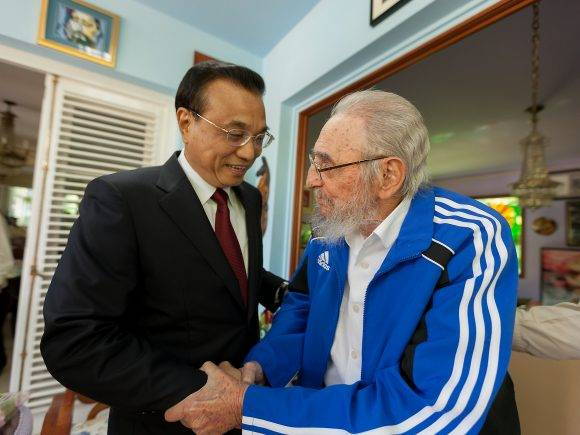 Fidel recibió a Li Kequiang Primer Ministro chino, el 25 de septiembre de 2016. Foto: Alex Castro