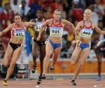 Final del relevo 4x100 femenino en Beijing 2008. Foto: Getty Images / Archivo de Cubadebate