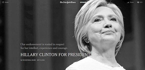 Captura de la página del NYT.