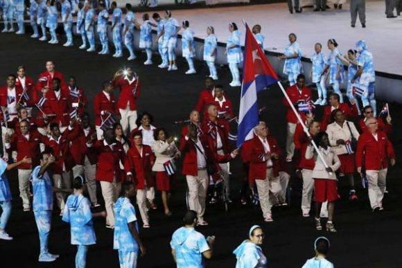 La delegación cubana desfila en la inauguración de los Juegos Paralímpicos. Foto JIT