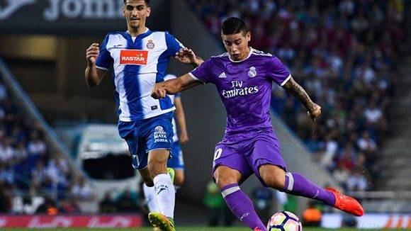 James iluminó al Madrid con su golazo al filo del descanso. Foto tomada de AS.