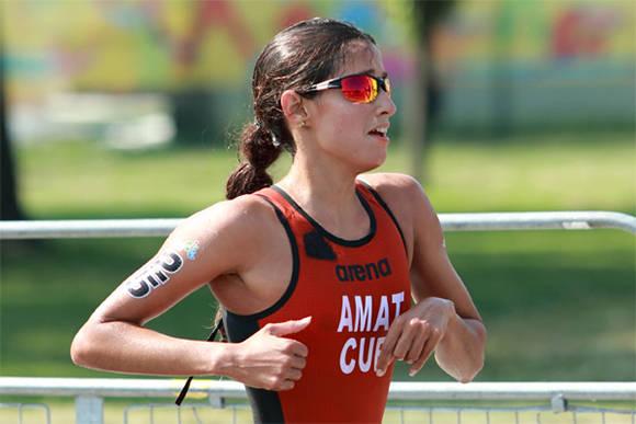 Cubana Leslie Amat a Copa del Mundo de Triatlón