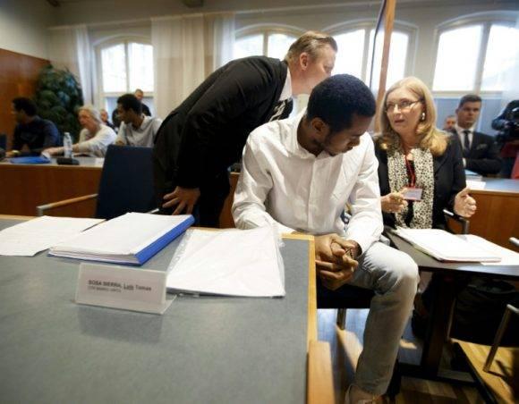 Luis Tomás Sosa en el juicio a los voleibolistas cubanos en Tampere. Foto: Metrolibre.