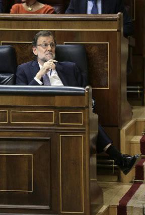 Rajoy en el Congreso. Foto: EFE.