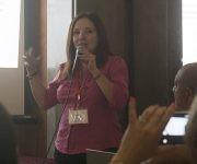 Martha Quiñones durante su exposición. Foto: José Raúl Concepción/ Cubadebate.