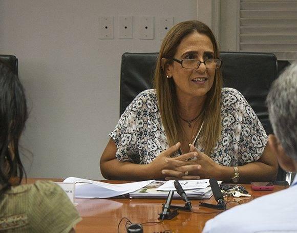 Meisi Bolaños, viceministra del Ministerio de Finanzas y Precios. Foto: José Raúl Concepción/ Cubadebate.
