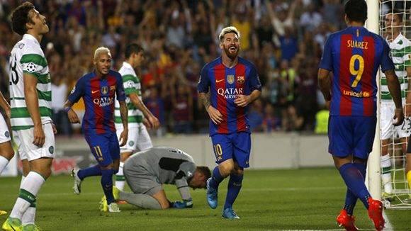 Messi fue el líder de la victoria con tres goles y una asistencia. Toda la MSN vio puerta. Foto tomada de Marca.