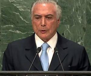 Michel Temer en la ONU
