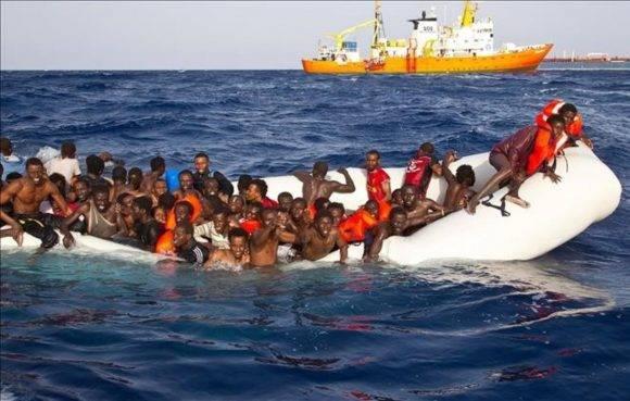 A Italia, el 20% de los que llegan por mar son de Nigeria, el 12% de Eritrea, mientras que el 7% son de Gambia. Foto: ONG Sos Mediterranee.
