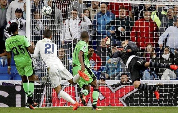 Así fue el cabezazo de Morata que culminó la remontada. Foto: Juanjo Martín/ EFE.