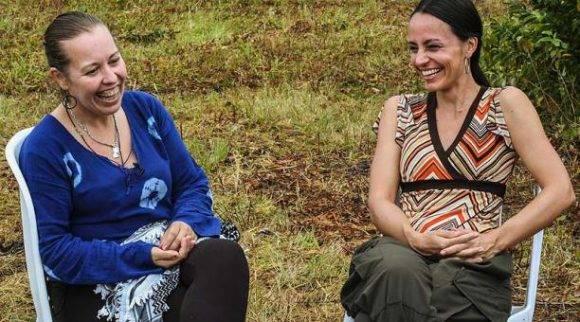 Natalie Mistral y Tanja Nijmeijer. Foto: AFP.