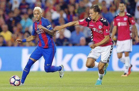 Neymar jugó los 90 minutos pero no pudo marcar. Foto: EFE/ Carlos Díaz.