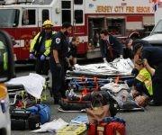 Nueva Jersey Tren choca en estación y deja más de 100 heridos. Foto: AFP